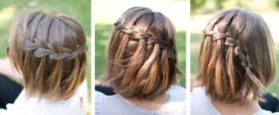 Чудова дитяча зачіска для школи і свята.