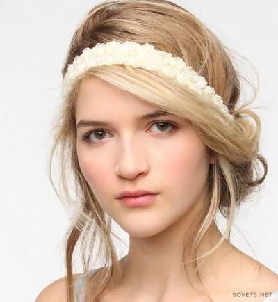 Грецька зачіска з пов`язкою