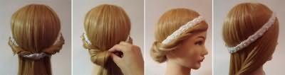 Грецька зачіска з пов`язкою - як плести