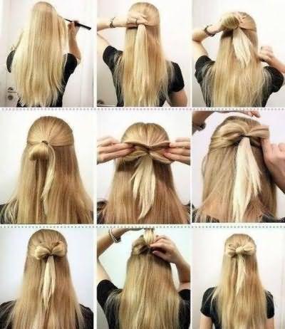 Гифки зачісок на довге волосся