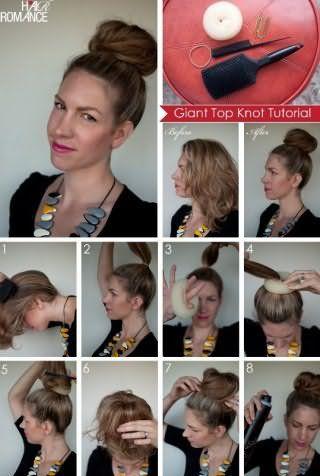 Поетапне виконання зачіски пучок: фото