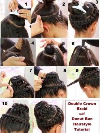 Інструкція створення зачіски пучок з елементами плетіння