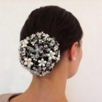 Аксесуар на весілля для зачіски пучок для довгого волосся