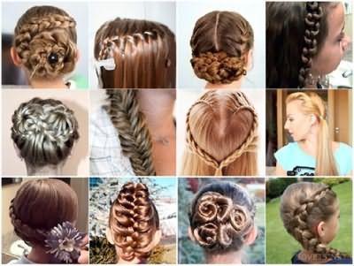 Приклади зачісок в школу різної складності