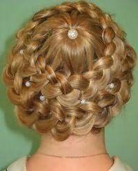 Красива зачіска кошик з аксесуаром