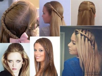 Зачіски в школу на довге розпущене волосся