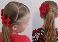 шкільні зачіски для дівчаток на довге волосся 6