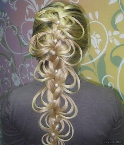 Зачіска двостороння ажурна коса