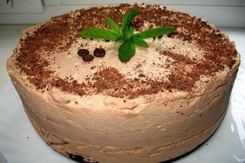 Шоколадно-кавовий торт