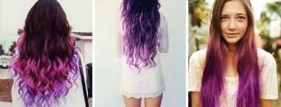 Фіолетове омбре фото