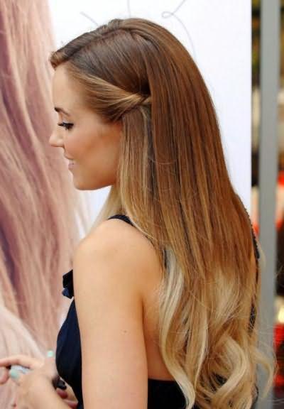 омбре фарбування на русяве волосся