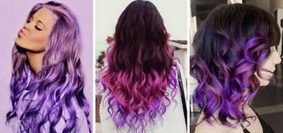 Фіолетові переливи волосся