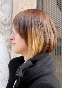 Омбр на довге темне волосся