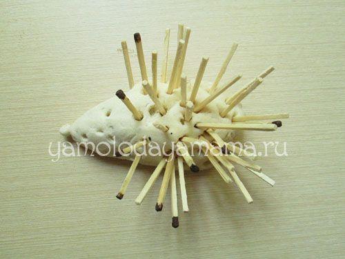 Виріб їжачок із солоного тіста