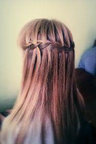 Зачіска водоспад на довге волосся