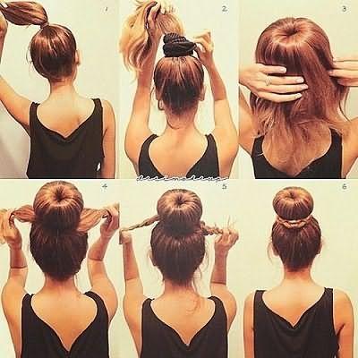 Зачіска з бубликом