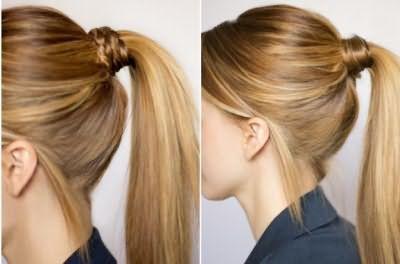 шкільна зачіска хвіст