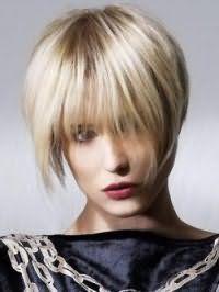 Ультрамодна креативна стрижка для короткого волосся попелясто-русявого тону