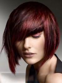 Оригінальний варіант рваною стрижки для прямих середніх волосся з мелірування