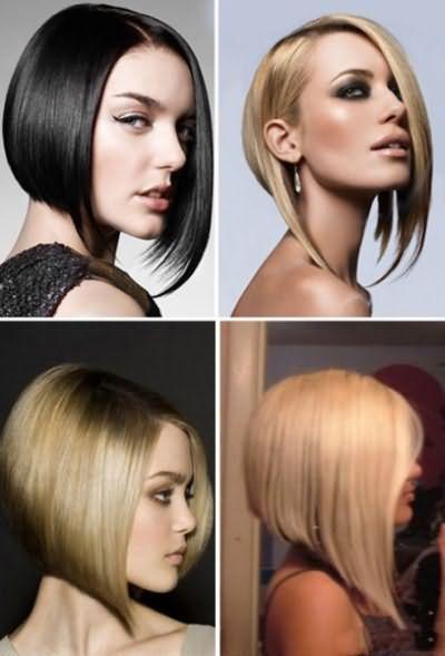 Зачіска каре з подовженням з чубчиком фото
