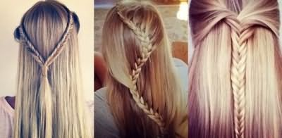 Проста зачіска на довге волосся для дівчинки