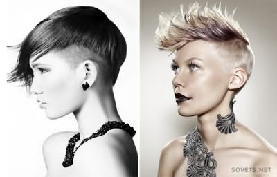 стрижки на коротке волосся в стилі панк