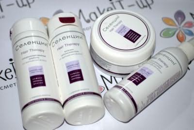 Продукція Селенцін для відновлення і зміцнення волосся