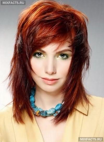 шарувата стрижка на тонке волосся
