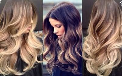 Локони на довге волосся фото