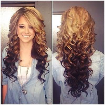 Локони на волосся середньої довжини