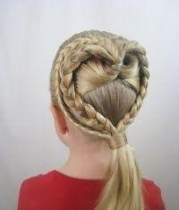 Модна зачіска серце