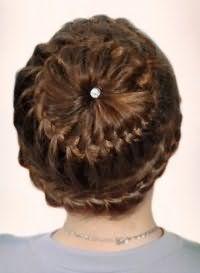 Стильна зачіска кошик