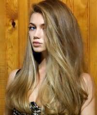 Природна і швидке укладання довгого волосся.