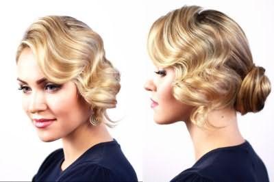 Укладання волосся середньої довжини фото з чубчиком