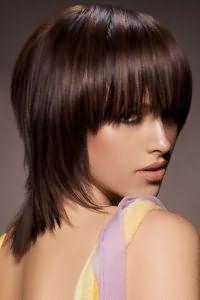 Варіант стрижки без укладання на волосся середньої довжини