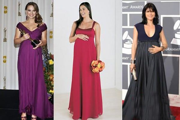 Вечірня сукня для вагітних