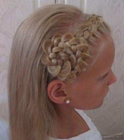 Дитяча зачіска для довгого волосся