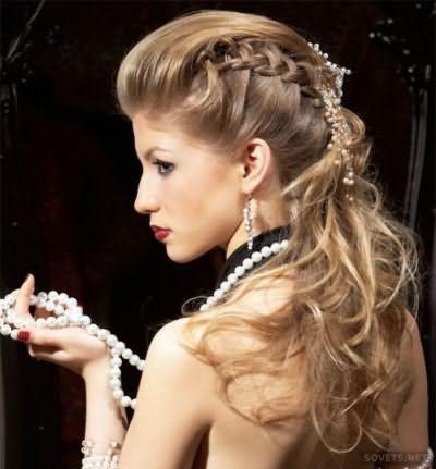 Урочиста зачіска з косами