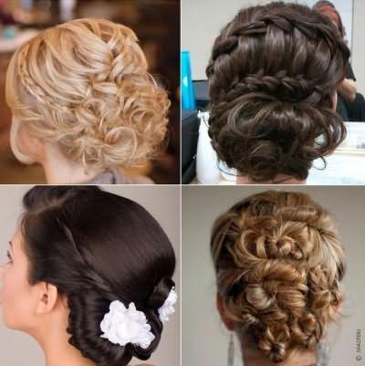 Вечірні зачіски на волосся середньої довжини