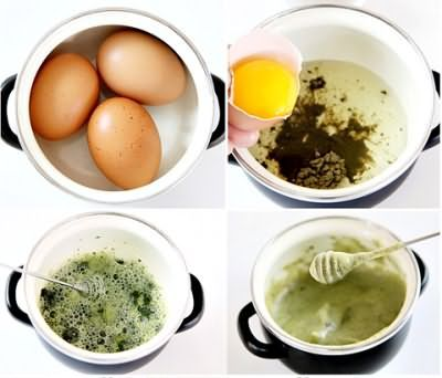 Маска з яйцем і чаєм