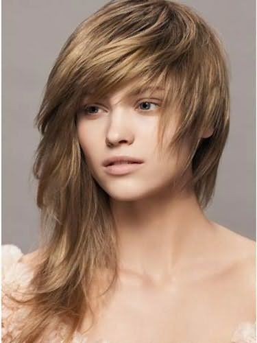 Асиметричні стрижки на середні волосся фото