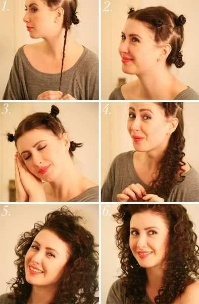 Ось такі красиві кучерики виходять зі скручених в джгутики волосся