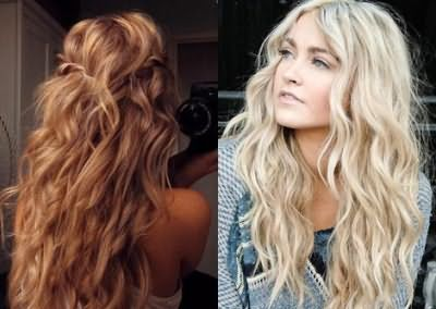 Легкі хвилі на довгому волоссі