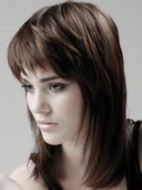 Рвана стрижка з чубком для довгого волосся