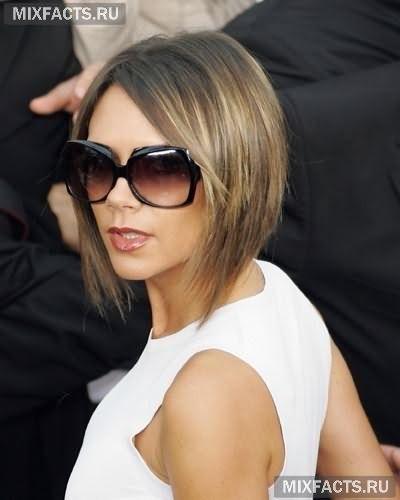 Модні стрижки для овального обличчя Вікторії Бекхем